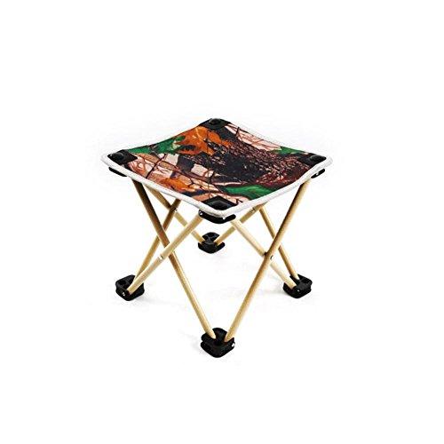 TZ TED Pliante Portable Camping Tabouret, extérieur léger Nouveau Design Chaise pour Barbecue Camping Pêche randonnée Garden Beach Tissu Oxford avec Sac de Transport en Aluminium Camouflage
