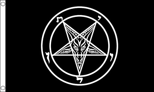 5ft x 3ft (150x 90cm) Baphomet Church of Satan schwarz 100% Polyester Material Flagge Banner Ideal für Pub Club Party Dekoration
