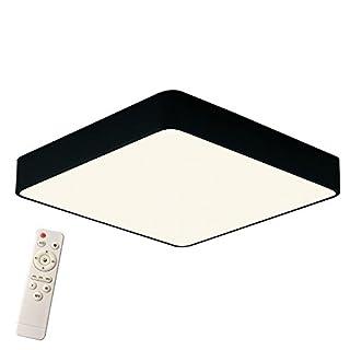 SAILUN 24W Dimmbar LED Einfach Deckenlampe Platz Deckenleuchte für Schlafzimmer Küche Flur Wohnzimmer Lampe Wandleuchte Energie Sparen Licht Schwarz