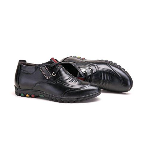 Lyzgf Hommes Jeunes Printemps Été Mode D'affaires Casual Haute Laçage Chaussures En Cuir Simple