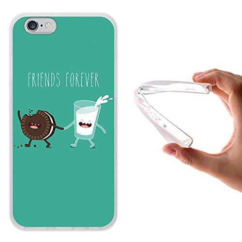 iPhone 6 6S Hülle, WoowCase Handyhülle Silikon für [ iPhone 6 6S ] Friends Forever Popcorn und Filme Handytasche Handy Cover Case Schutzhülle Flexible TPU - Transparent Housse Gel iPhone 6 6S Transparent D0230