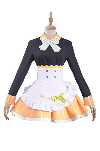 Cosplayfly Love Live Honoka Kousaka Nette Frauen Anime Cosplay,Damen Französisch Schürze Dienstmädchen Kostüm für Karneval Fasching Halloween (Männliche Dienstmädchen Kostüm)