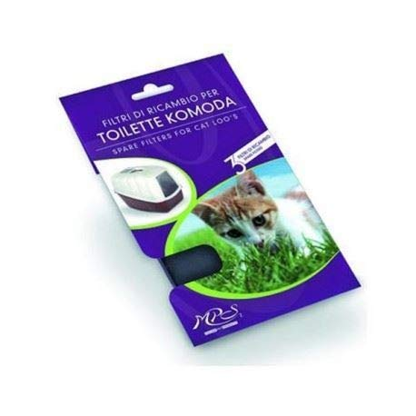 Nobby 72149 - Filtri di Ricambio (carboni attivi) per Toilette Komoda