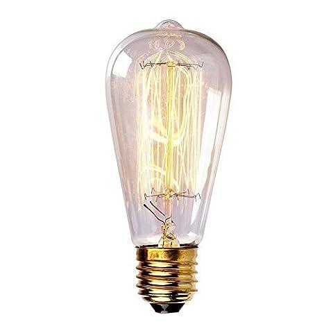 ONEPRE à incandescence 40 W Culot Edison Ampoule style Vintage Reproduction Dimmable Ampoule à incandescence culot E27