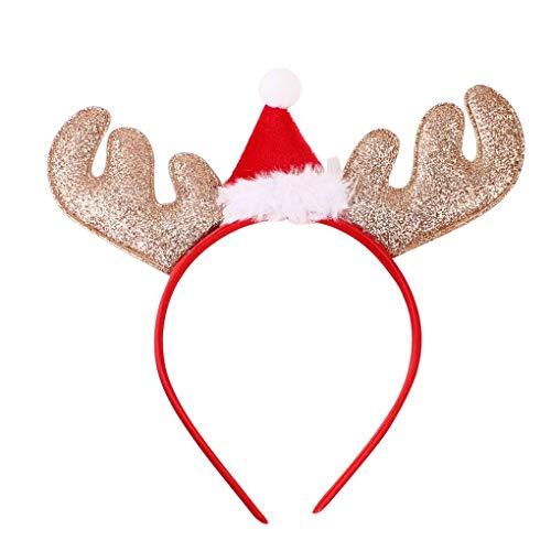 Fornateu Stilvolle Hirschgeweih Stirnband Partei-Haar-Band-Hauptband Weihnachten Kostüme Zubehör