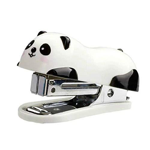 TuDu Dessin animé Panda Mignon Mini agrafeuse de bureau agrafe...