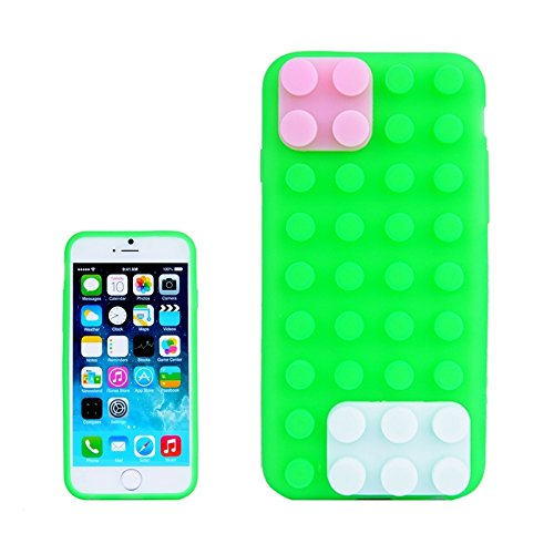 WKKIT Case texture modulaire pour iphone 6 &6s silicone ( Color : Yellow ) Green