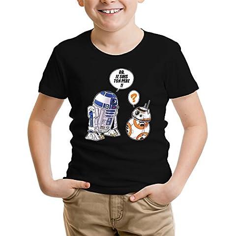 Bb8 Star Wars - T-shirt Enfant garçon Film - Parodie des