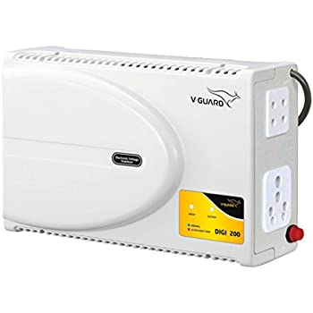 V-Guard DIGI 200 Voltage Stabilizer for Television (Grey)