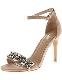 Viva Mujer Diamante Correa Delantera Correa de Tobillo Fiesta Sandalias Tacones  Altos Zapatos a5440fa1f5b0