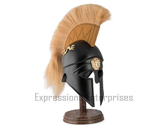 Expressions Enterprises Korinthischer Helm, Kopfbedeckung, antiker griechischer korinthischer Helm, braun, Pferdehaar, Pflaume, Vintage-Dekoration, Kostüm-Requisite (Rost Helm Kostüm)