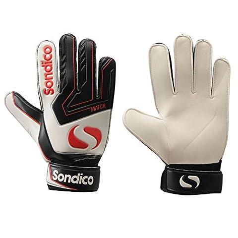 Sondico Mens Match Goalkeeper Gloves Mens White/Black/Red