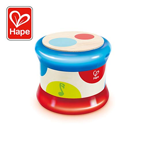 Hape International-HAP-E0333 Tambor Bebé, (E0333)