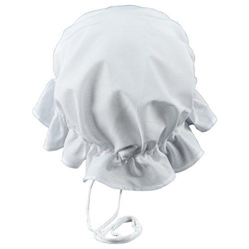 Colonial amischen Mob Baumwolle Hat Damen weiß Motorhaube Armen Mädchen, Dienstmädchen, oder Pilgrim Kostüm