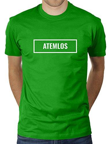 Atemlos Boxed - Herren T-Shirt von KaterLikoli, Gr. M, Apple Green