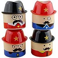 STOBOK 4 pcs sacapuntas bigote sacapuntas sacapuntas de papelería para niños niños (patrón mixto)