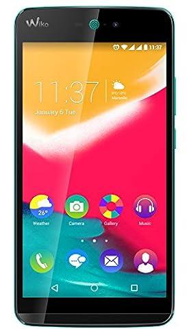 Wiko Rainbow Jam 4G Smartphone débloqué (Ecran: 5 pouces - 8 Go - Double SIM - Android 5.1 Lollipop) Bleen