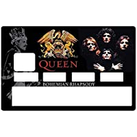 DECO-IDEES QUEEN Bohemian Rhapsody, credit card Stickers - Personalize Your Credit Card Visa or MasterCard with These Removable Stickers