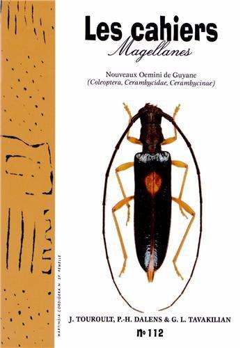 Les cahiers Magellanes, N° 112, 2010 : Nouveaux Oemini de Guyane par Julien Touroult