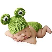 Akimgo (TM) BS # S rana sveglia Newborn Crochet Abiti Set protezione calda del cappello del ragazzo della protezione della ragazza cappello del bambino della protezione del bambino per Infant Newborn Fotografia Prop