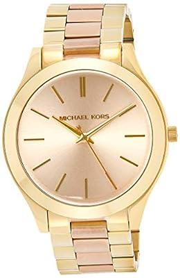 Michael Kors Slim Runway - Reloj de Acero Inoxidable para Mujer, 42 mm