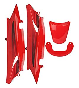 Zadon Tail Panel for Hero Glamour Sports (Set of 4) Sport Red