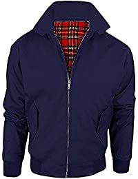 Mymixtrendz® Kids Harrington Classic Bomber Scooter Boys Girls Zipper Jacket Coat Top With Tartan Lining Age 2-14 Year