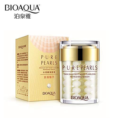 Uniqus 2Pcs BIOAQUA Pure Pearl Face Cream Hyaluronic Acid Deep Moisturizing Skin Care Anti Wrinkle Whitening Essence Facial