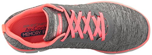 Skechers Flex Appeal 2, Baskets Basses Femme Gris (Gycl Gris/Corail)