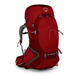 Osprey Atmos AG 65 Men's Backpacking Pack - Rigby Red (LG)