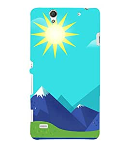 printtech Nature Animated Mountain Back Case Cover for Sony Xperia C4 E5303 E5306 E5353
