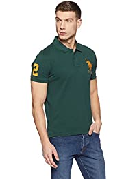 US Polo Association Men's Solid Regular Fit Polo
