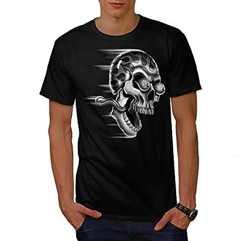 Geschlossen Oben Und Reiten Motorradfahrer Motorrad Herren M T-shirt | Wellcoda