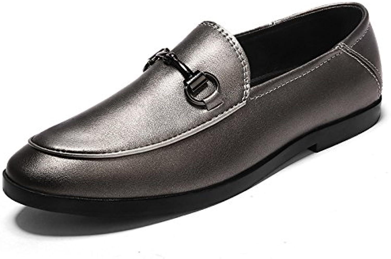 Donyyyy Der Fuß slacker Schuh Männer Schuhe  Rot Braun  47