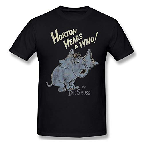 DeyAope Dr. Seuss - Horton Hears A Who! Herren Klassisch T-Shirt Black XXL