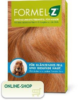 Formel Z Ergänzungsfuttermittel für Hunde Spar-Set 2x125g (83 Tabletten). Für glänzendes Fell und gesunde Haut. Hält Zecken und Parasiten fern.