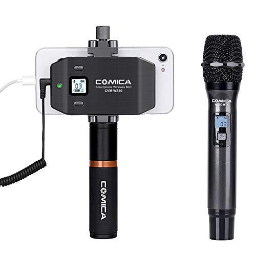 HM2 Handmikrofon, 6 Kanäle Drahtloses Smartphone-Mikrofonsystem, für Familientreffen, Kirchen, Konzerte, Gesang - Grau (Drahtlose Mikrofone Für Kirchen)