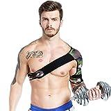 YSHTAN Schulterstützengurt, für Sport, Schulterunterstützung, verstellbar, für Fitness-, Schmerz-, Verletzungsübungen, Schulterstütze, Sportschutz, Camouflage- und grüne linke Hand