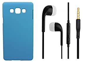 XUWAP Hard Case Cover With 3.5mm Stereo Earphones For Samsung Galaxy E7 - Skyblue