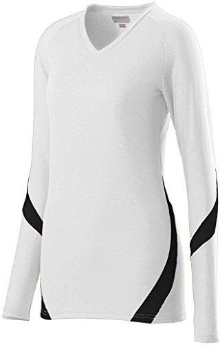 Augusta - T-shirt de sport - Femme Multicolore - Blanc/noir