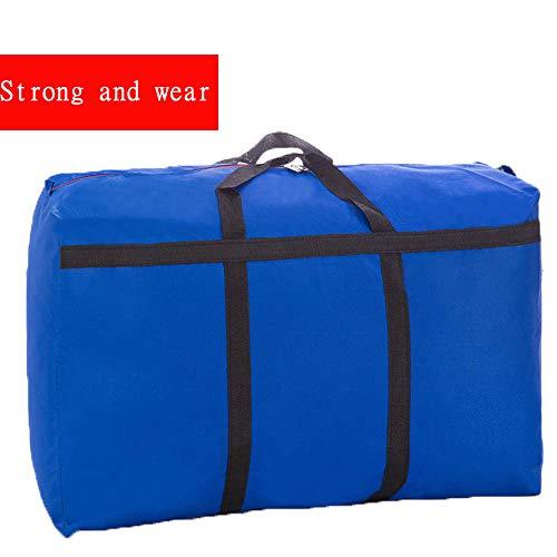 PGYZ dickes Oxford Tuch wasserdichte Gepäcktasche mit großer Speicherkapazität Verstärkung blau 100x60x30cm