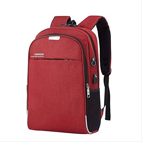 Rucksack Rucksack Laptop Rucksack USB-Laderucksack Reisetaschen Schulrucksack für Männer Burgund
