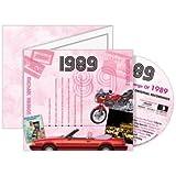 1989Geburtstag Geschenk–1989Chart CD und 1989Grußkarte