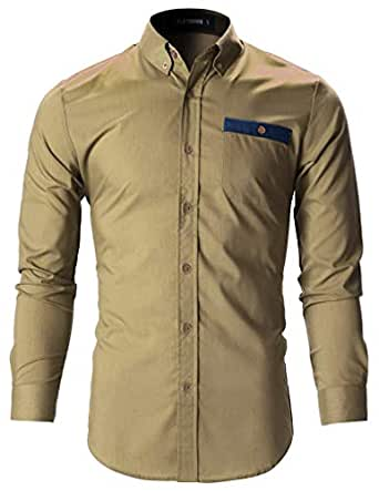 Tryme Fashion Men's Cotton Casual Shirt for Men Full Sleeves (Cream, Small - 38)