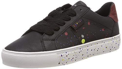 ESPRIT Damen Colette spla LU Sneaker, Schwarz (Black 001), 37 EU