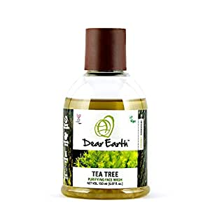 Dear Earth Tea Tree Purifying Organic & Vegan Face Wash, 150ml