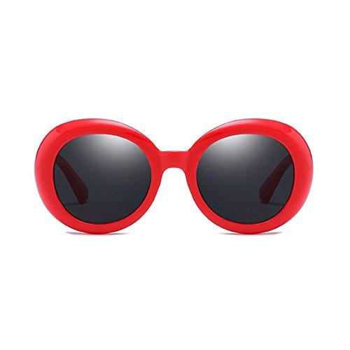 Mode Bikini Schwimmen Uv400 Frauen und Männer Oval Sonnenbrillen Brillengestell Material Kunststoff Sonnenbrillen Sonnenbrille (Farbe : Rot, größe : One Size) ()