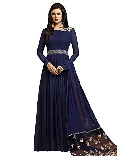 Indisch Salwar Kameez Frau Nicht abgesteppt kleid partywear Nicht Gewunden Nur Material Mirchi Fashion (Kameez Salwar Krepp)