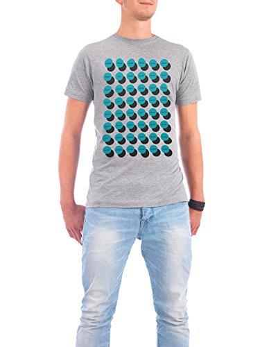 """Design T-Shirt Männer Continental Cotton """"Work-Eat-Meet-Sleep"""" - stylisches Shirt Typografie Geometrie von Doozal Collective Grau"""