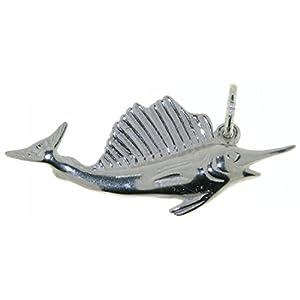 Derby Anhänger Schwertfisch Fächerfisch echt Silber 23134